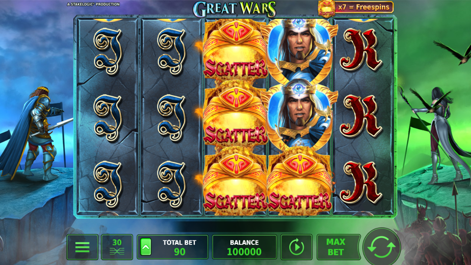 Stakelogic Great Wars Slot Review