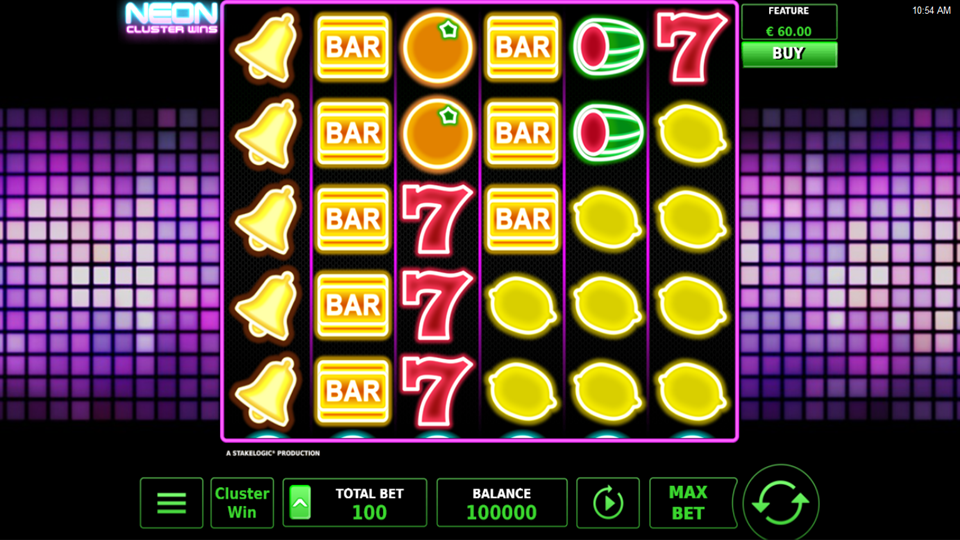 Stakelogic Neon Cluster Wins Slot Review