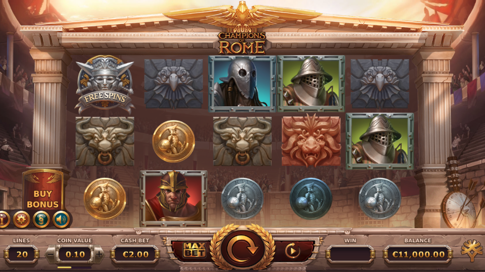 Yggdrasil Champions of Rome Slot Review